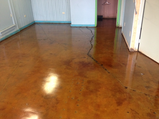 Image for Stained concrete inside house